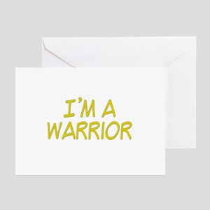 I'm A Warrior [Yellow] Greeting Cards (Package of